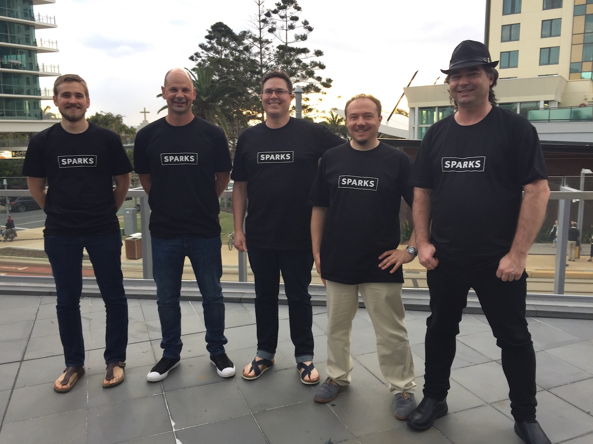 Sparks Interactive team at DrupalSouth 2016